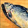 Aquarellmalerei, Karpfen mahl, Martha krug, Malerei