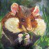 Tiere, Hamster, Acrylmalerei, Malerei