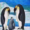 Pinguin, Eis, Acrylmalerei, Tiere