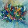 Acrylmalerei, Malerei abstrakt, Spachteltechnik, Gemälde