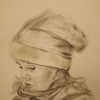 Portrait, Mädchen, Mit mütze, Zeichnungen