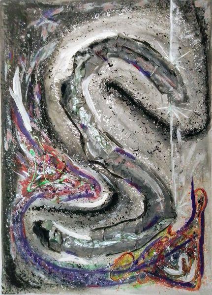 Ausprobieren, Acrylmalerei, Abstrakt, Malerei,