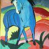 Abstrakte malerei, Pferde, Fantasie, Malerei