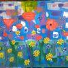 Blumen, Abstrakte malerei, Blumenwiese, Sommer
