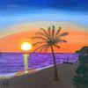 Landschaft, Natur, Abstrakte malerei, Insel