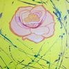 Abstrakte malerei, Rose, Blumen, Malerei