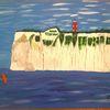 Abstrakte malerei, Landschaft, Sport, Malerei