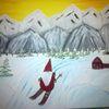 Comic, Weihnachten, Abstrakte malerei, Wichtel