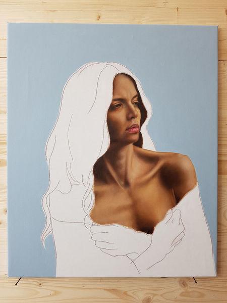 Fotorealismus, Portrait, Ölmalerei, Menschen, Malerei