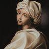 Kleid, Klassisch, Studie, Portrait