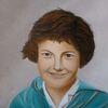Grau, Portrait, Ölmalerei, Mädchen