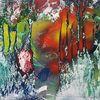 Grün, Abstrakt, Bunt, Malerei
