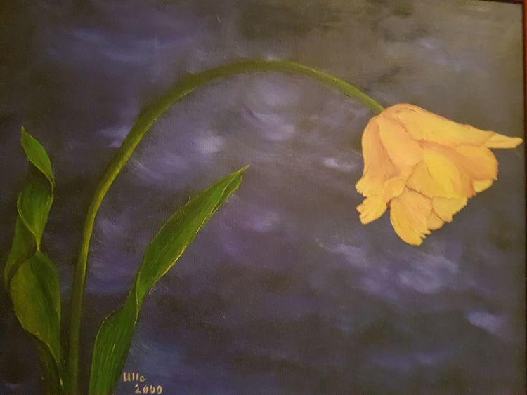 Gelb, Tulpen, Einzel, Malerei