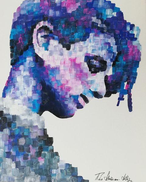 Portrait, Malerei, Acrylmalerei, Menschen