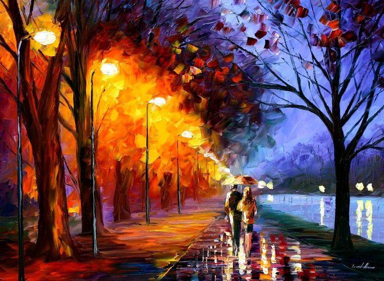 Ölmalerei, Oilpaintingoncanvas, Leonidafremov, Oiloncanvas, Malerei,