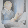 Farben, Lesen, Mann, Schrift