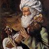 Greis, Turban, Blind, Streichinstrument