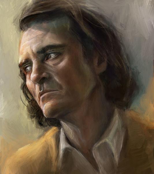 Digitale malerei, Gesicht, Portrait, Digitale kunst