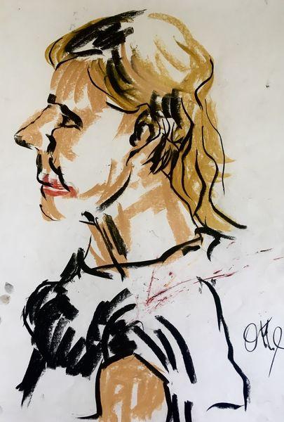 Blond, Nase, Pastellmalerei, Malerei