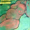 Pastellmalerei, Schwangerschaft, Grün, Malerei