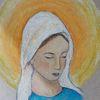 Pastellmalerei, Heilig, Gottesmutter, Katholisch