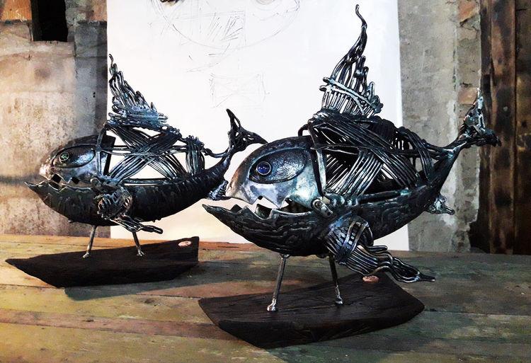 Skulptur, Metall, Figural, Plastik