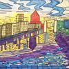 Innenhafen, Sonnenuntergang, Reflektionen, Schwanentor