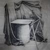 Malerei marcel heinze, Zeichnung, Studie, Kohlezeichnung
