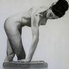 Weiblich, Akt, Zeichnung, Zeichnungen