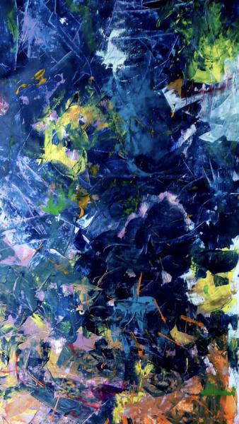 Blau, Orkan, Aufwühlend, Malerei, Leben