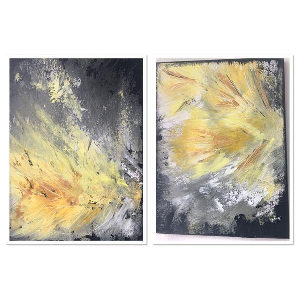 Abstrakt, Sommer, Duo, Sonne, Lebensfreude, Licht
